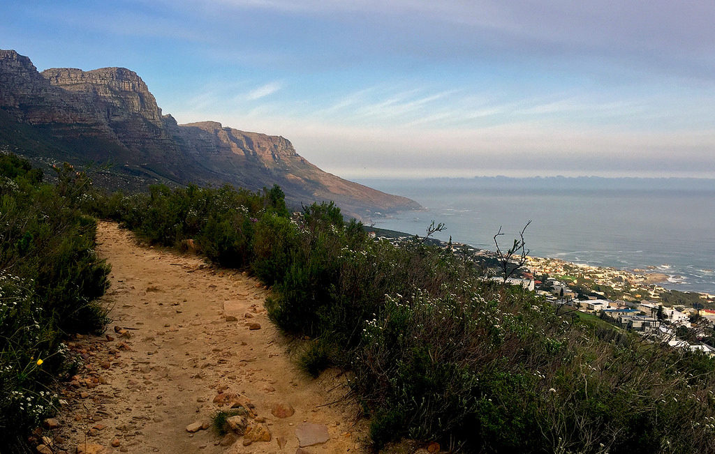 Table Mountain hiking route Pipe track