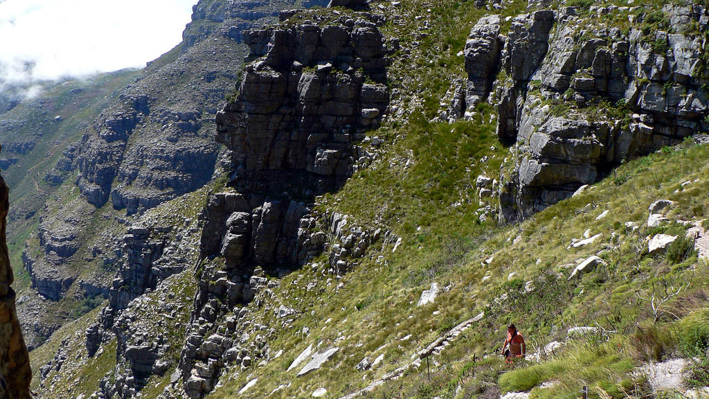 Fast hiking route up Table Mountain