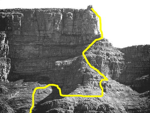 Route plans Table Mountain